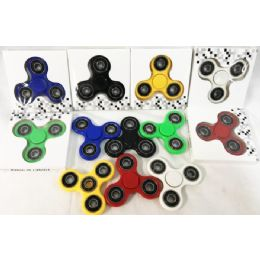 36 Units of Solid Color Fidget Spinners Assorted - Fidget Spinners
