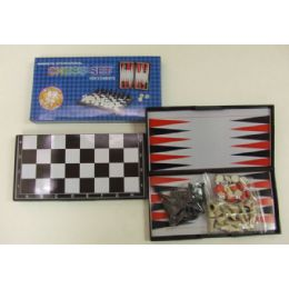 48 Units of Magnetic 2 In 1 Chess Set - Dominoes & Chess