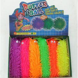 24 Units of 6Pc. Caterpillar Puffer Ball