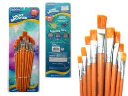 72 Units of 9 Piece Artist Paint Brush - Paint, Brushes & Finger Paint