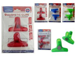 96 Units of 2 Piece Magnetic Multipurpose Clips - Clips and Fasteners