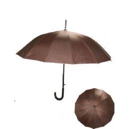 24 Units of Brown Umbrella - Umbrellas & Rain Gear