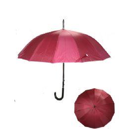 24 Units of Red Umbrella - Umbrellas & Rain Gear