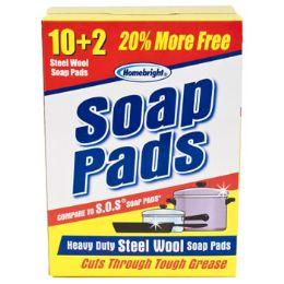 48 Units of Soap Pads Bonus Home Bright - Scouring Pads & Sponges