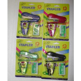 240 Units of 3pc. Stapler Set - Staples and Staplers