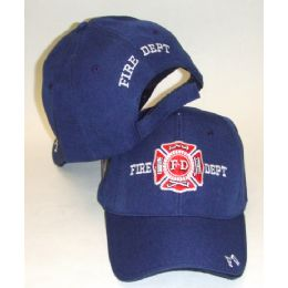 144 Units of Fire Dept. Cap - Hats With Sayings