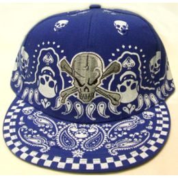 72 Units of Skull Fitted Cap - Hats With Sayings