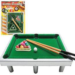 12 Units of Master Billiards Mini Pool Table - Dominoes & Chess