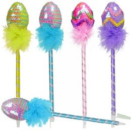 96 Units of Sequined Easter Egg Pens - Easter