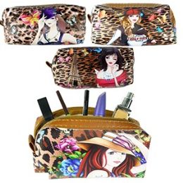 120 Units of CHEETAH GIRL MAKEUP BAGS. - Cosmetic Cases