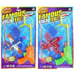 48 Units of 5 PIECE FAMOUS FIGHTERS DISK AND GLIDER LAUNCHERS