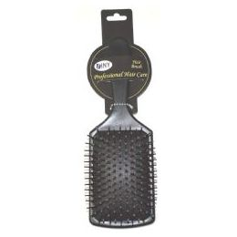 96 Units of Wholesale 9.25 Inch Black Paddle Cushioned Hair Brush - Hair Brushes & Combs