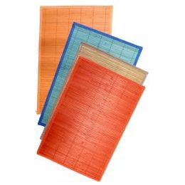48 Units of Bamboo Placemats Assorted Colors - Placemats