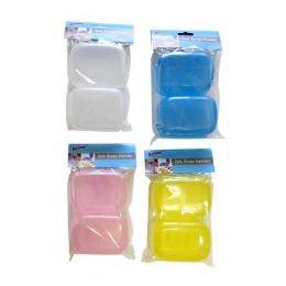 96 Units of Wholesale 2 pack Plastic Soap Dish Set - Soap Dishes & Soap Dispensers