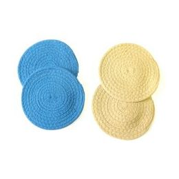 48 Units of 2 Pack Woven Round Trivet - Oven Mits & Pot Holders