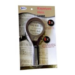48 Units of Handheld 3X Magnifying Glass with 6X Bifocal Lens - Magnifying  Glasses