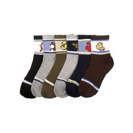144 Units of Boy's Animal Crew Socks - Boys Crew Sock