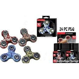 24 Units of Camo Assorted Graphic Spinners - Fidget Spinners