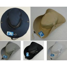24 Units of Wholesale Boonie Hats Cowboy Style Fishing Hats Solid Color - Cowboy & Boonie Hat