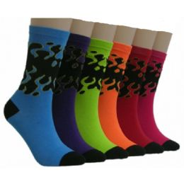 360 Units of Women's Colorful Crew Socks - Womens Crew Sock