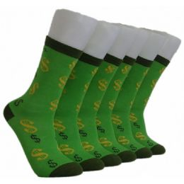 360 Units of Women's Dollar Sign Crew Socks - Womens Crew Sock