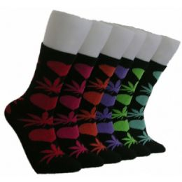 360 Units of Women's Love & Weed Socks - Womens Crew Sock