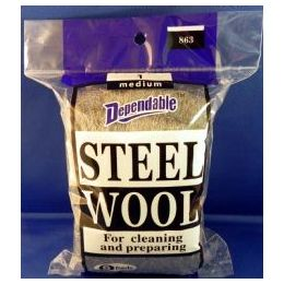 96 Units of Wholesale No.1 Steel Wool Medium - Scouring Pads & Sponges