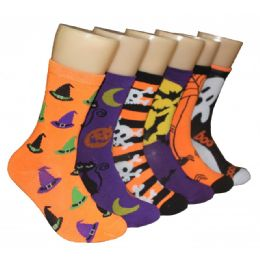 360 Units of Women's Halloween Crew Socks - Halloween & Thanksgiving