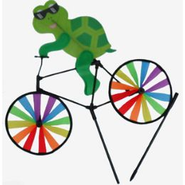 24 Units of Windmill-Turtle on Bike - Wind Spinners