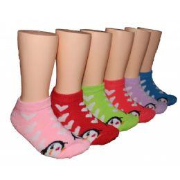 480 Units of Girls Penguin Love Low Cut Ankle Socks - Girls Ankle Sock