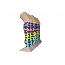 240 Units of Girls Rainbow Hearts Knee High Socks - Girls Knee Highs