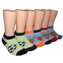 480 Units of Boys Soccer, Basketball, Baseball Low Cut Ankle Socks - Boys Ankle Sock