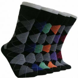 288 Units of Men's Classic Argyle Crew Socks - Mens Crew Socks