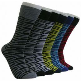 288 Units of Men's Designer Crew Socks - Mens Crew Socks