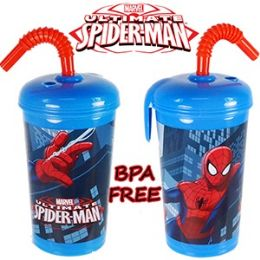 24 Units of SPIDERMAN ACRYLIC SPILL PROOF TUMBLERS - Drinking Water Bottle