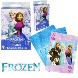 48 Units of Disney's Frozen Jumbo Playing Cards - Card Games