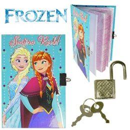 48 Units of Disney's Frozen Diary W/ Lock. - Dry Erase