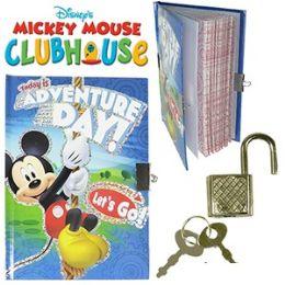 48 Units of Disney Mickey's Clubhouse Diary W/ Lock. - Dry Erase