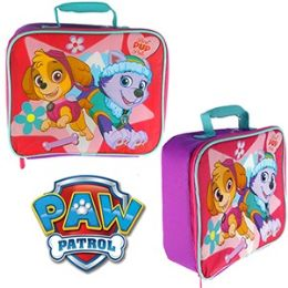 12 Units of Paw Patrol Soft Lunch Boxes. - Backpacks