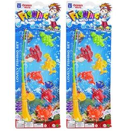 72 Units of 7 Piece Ocean World Fishing Games. - Dominoes & Chess
