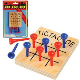 96 Units of Wood TiC-TaC-Toe Games - Travel Games - Dominoes & Chess