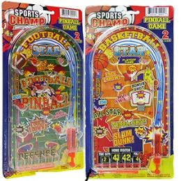 48 Units of Large Hand Held Sports Champ Pinball Games - Dominoes & Chess