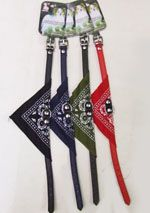 240 Units of Assorted Bandana Design Dog Collar Small Size - Pet Collars and Leashes