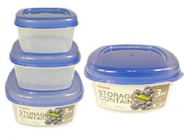 48 Units of 3 Piece Round Food Containers - Food Storage Containers