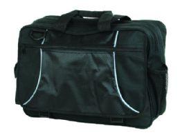 "12 Units of Poly/Nylon Expedition 17"" Laptop Portfolio, 17""x12""x6"", Black. - Bags Of All Types"