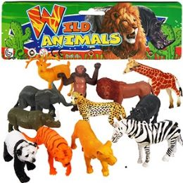 24 Units of 12 PIECE VINLY WILD ANIMAL SETS - Animals & Reptiles