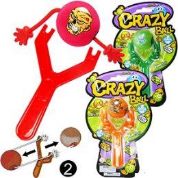 72 Units of CRAZY BALL SLINGSHOTS - Balls