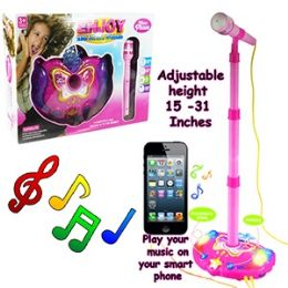 12 Units of Battery Operated Microphones W/lights & Sound - Musical
