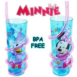 24 Units of DISNEY'S MINNIE'S BOW-TIQUE ACRYLIC SILLY STRAW TUMBLERS. - Plastic Drinkware