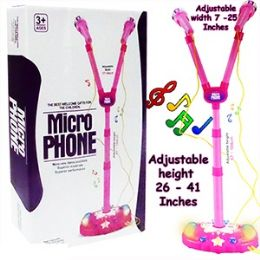 12 Units of Battery Operated Dual Microphones W/lights & Sound. - Musical